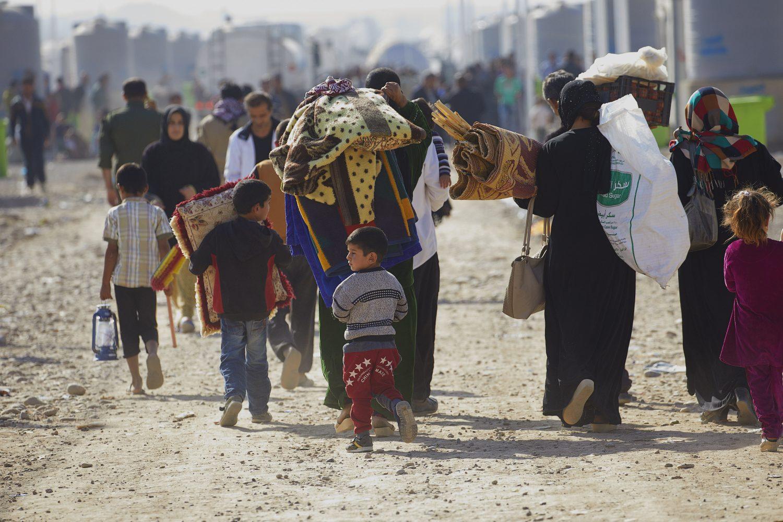 Irak Nineve vlakte Mosul Erbil vluchtelingen idp in Khazer kamp 12-11-2016 photo Jaco Klamer, klamer-staal.nl