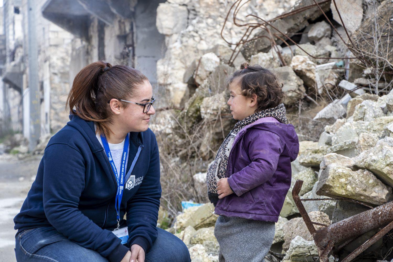 Syrië Syria Hala Zarif employee Dorcas collega war oorlog child kind vluchteling