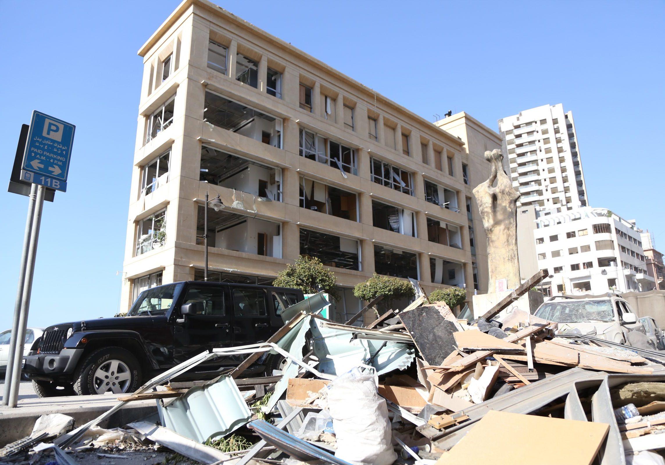 Het huidige straatbeeld van de miljoenenstad Beiroet.