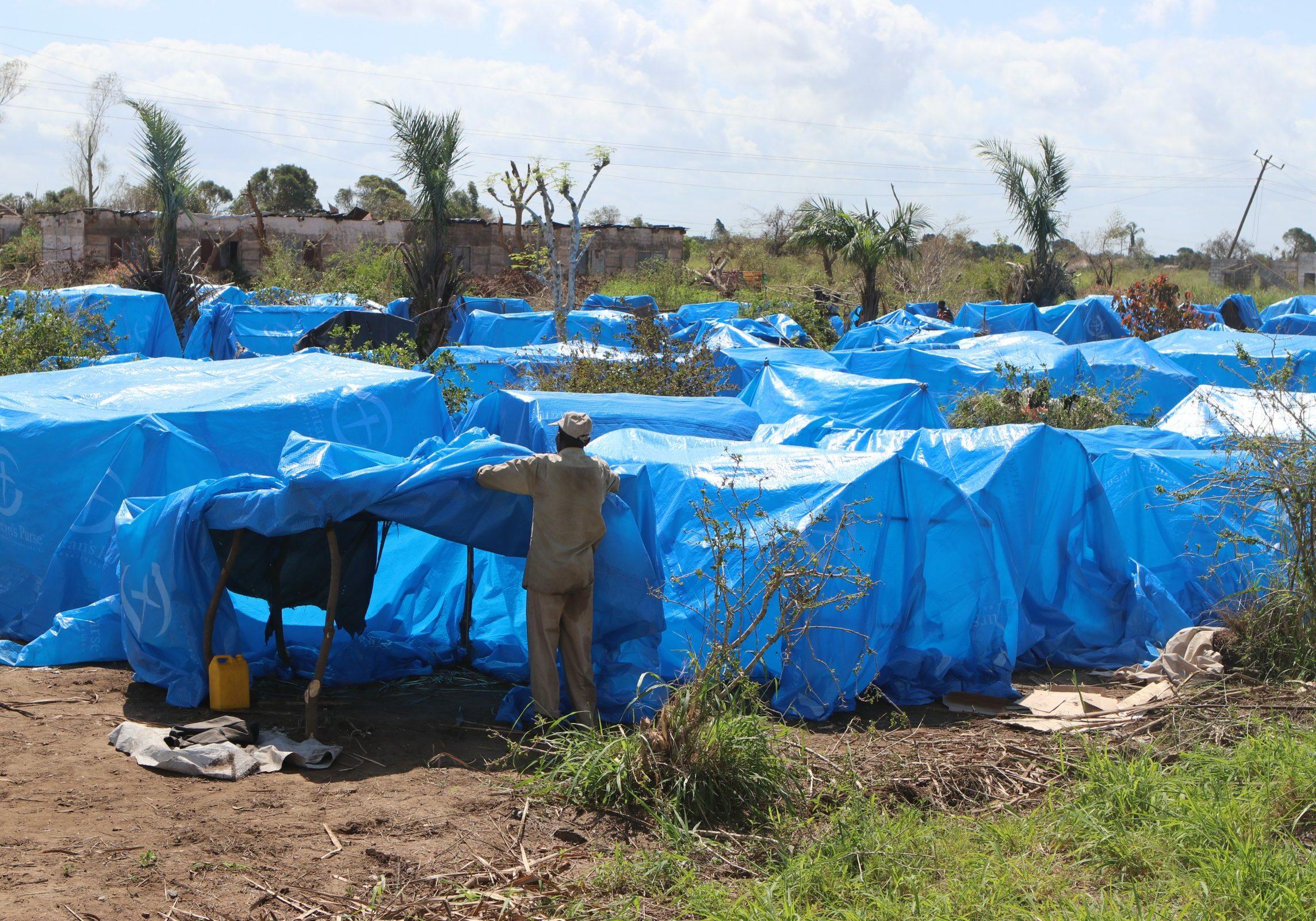 Mozambique tentenkamp idai cycloon orkaan
