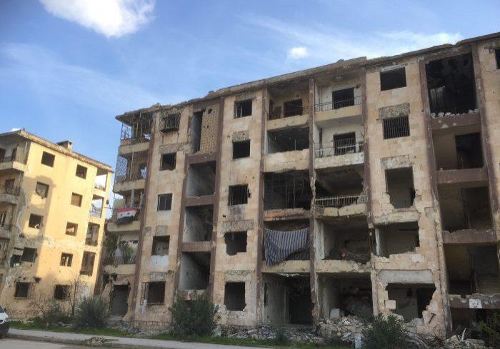 Syria Syrië gebouw noodhulp oorlog schade